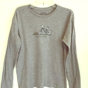 Life is good, long sleeved, 100% cotton.
